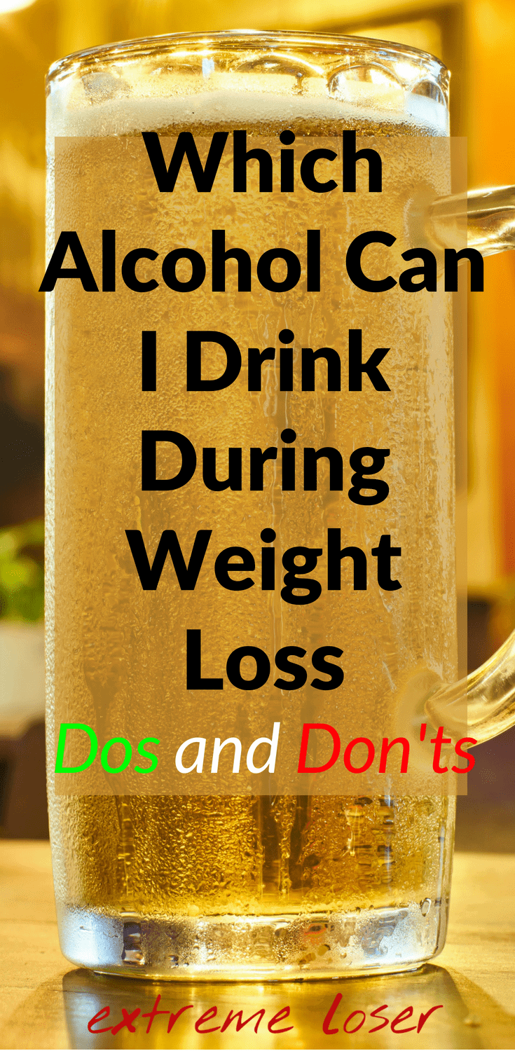 alcohol during weight loss